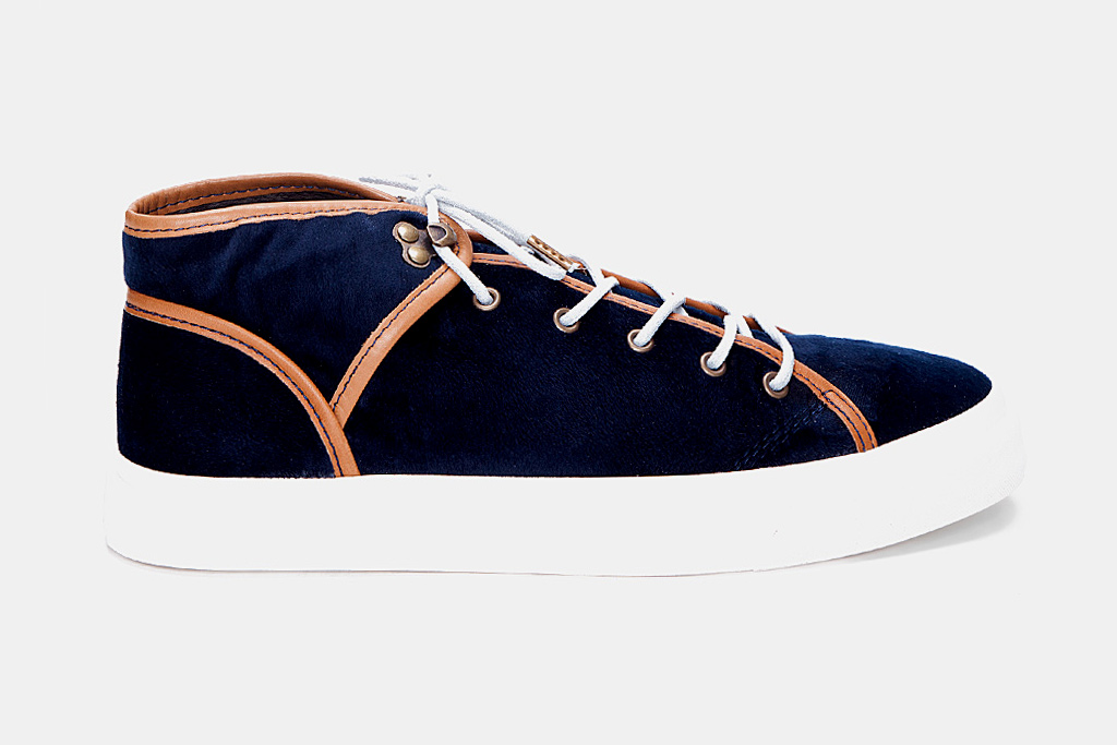"""Ksubi Lewis Velvet Sneaker """"Navy"""""""
