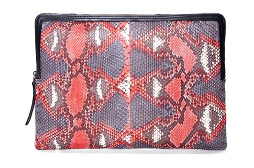 Lanvin Red Python Laptop Case
