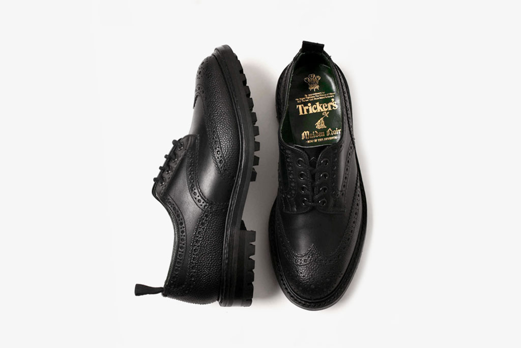 maiden noir x trickers brogue shoes