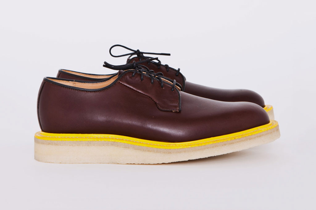 "Mark McNairy for Tres Bien Shop ""Brown Waxy Wholecut"" Shoe"