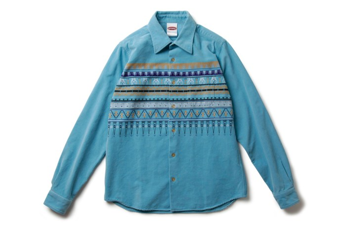 MASTERPIECE 2012 Spring/Summer Native Pattern Corduroy Shirt