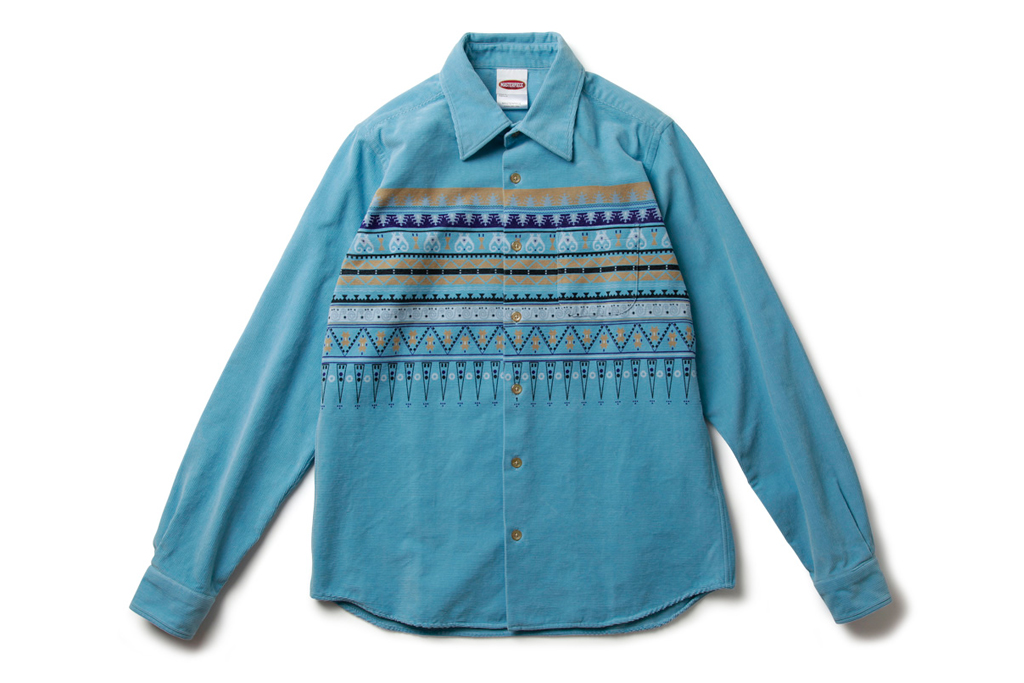 MASTERPIECE 2012 Spring/Summer Native Pattern Corduroy Shirt