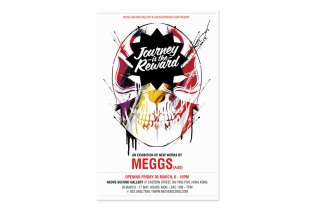 """MEGGS """"Journey is the Reward"""" Exhibition @ Above Second Gallery"""
