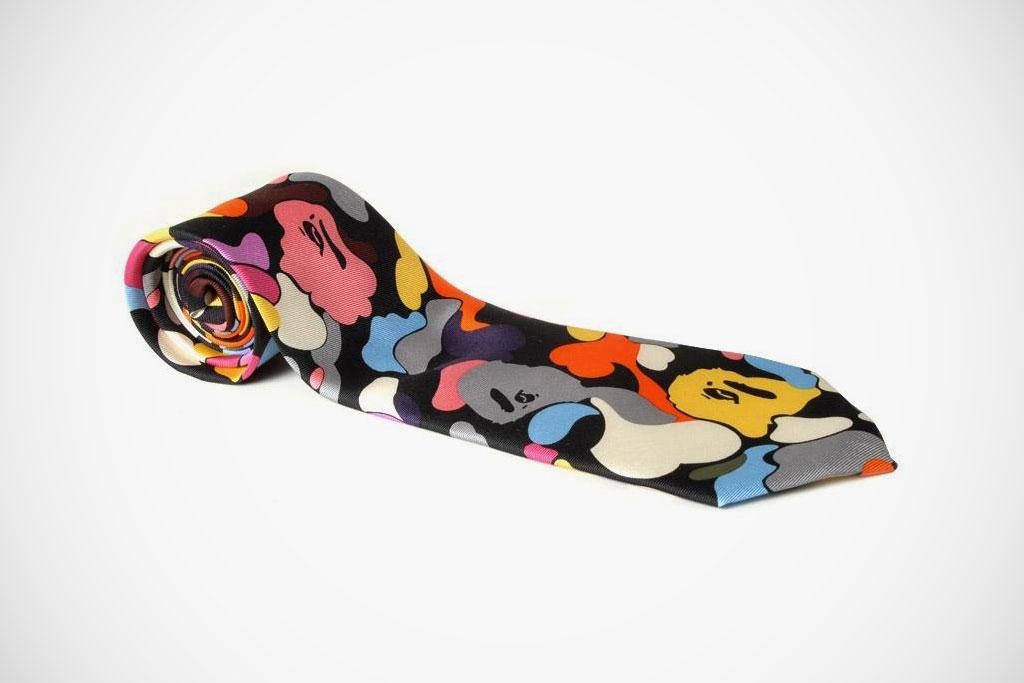 Mr. Bathing Ape Multi Camo 9cm Tie