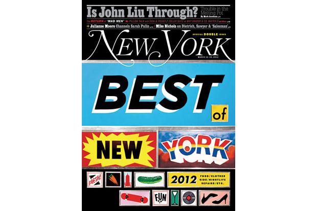 "New York Magazine ""Best of New York 2012"" Issue"