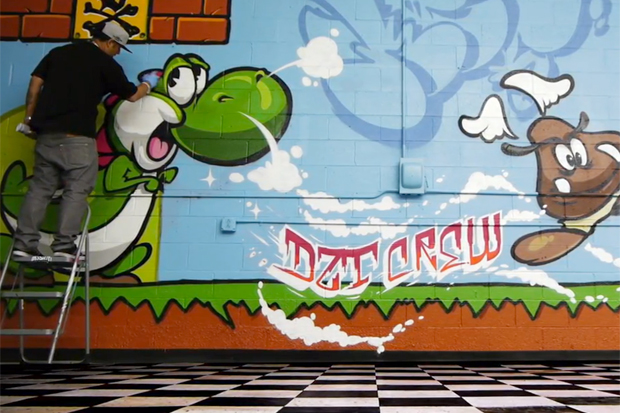 OG SLICK x CALE Super Mario Graffiti Video