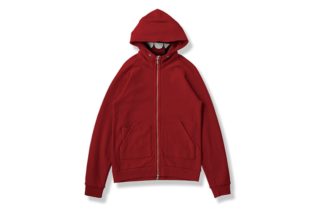 OriginalFake INSIDE RIB STAND COLLAR Zip Hoody