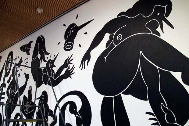 """Parra """"WEIRDED OUT"""" Mural Installation @ SFMoMA Preview"""