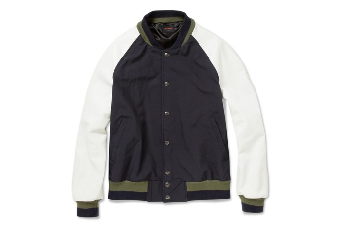 Raf Simons 1995 Leather and Poplin Bomber Jacket