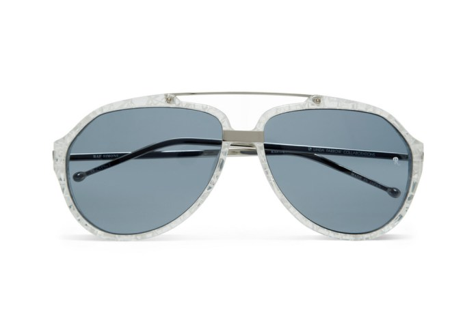 Raf Simons Cracked-Effect Aviator Sunglasses