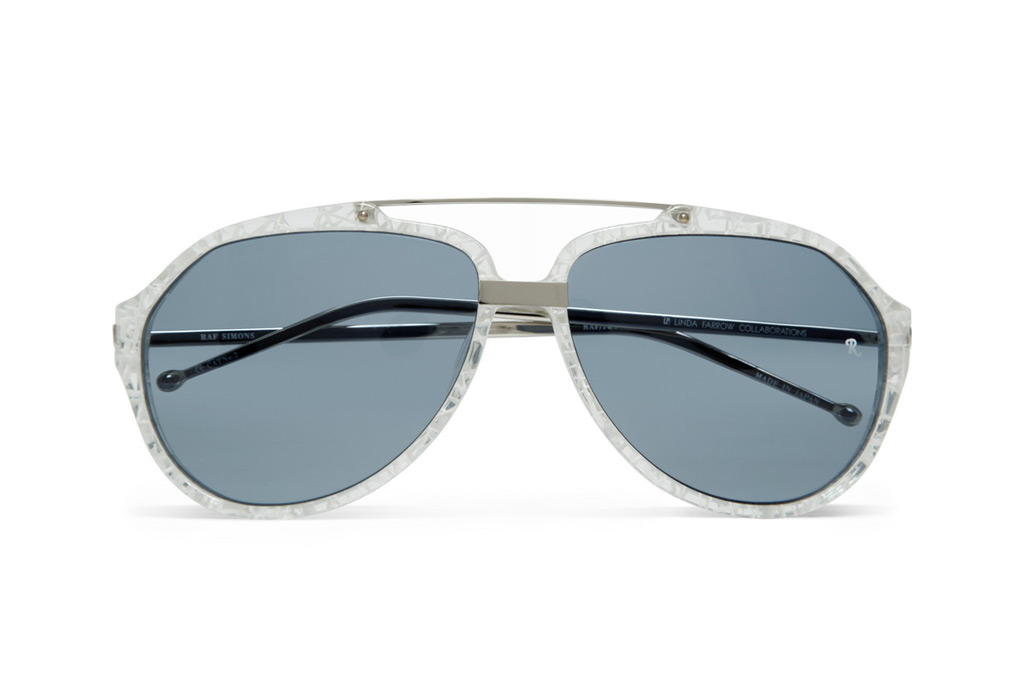 Raf Simons Cracked-Effect Aviator Sunglasses