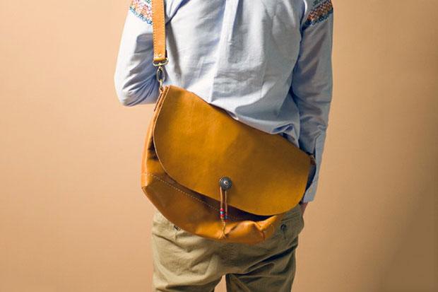 rehacer Hand Made Leather Shoulder Bag