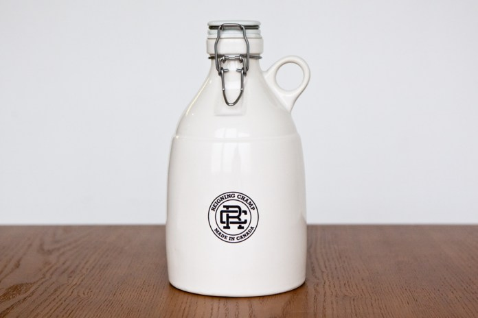 Reigning Champ x Portland Growler Co. 64 oz. White Loop-Gloss Growler