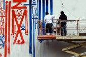 RETNA Mural @ Houston & Bowery Video