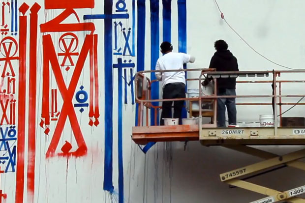RETNA Mural @ Houston & Bowery Video