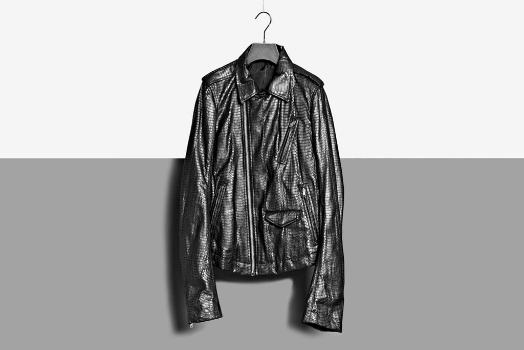 rick owens 2012 spring summer water python leather biker jacket