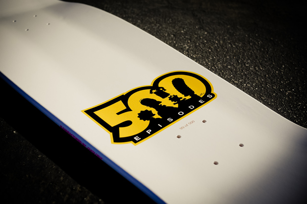 santa cruz x the simpsons 500th episode bart slasher deck