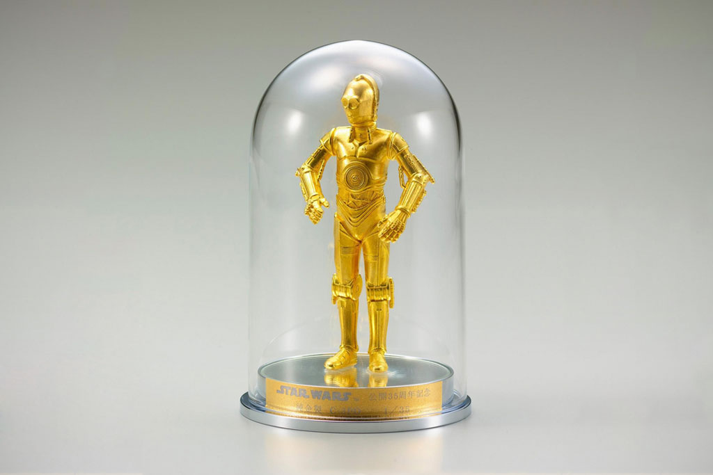 star wars 35 year anniversary sterling silver r2 d2 and pure gold c 3po