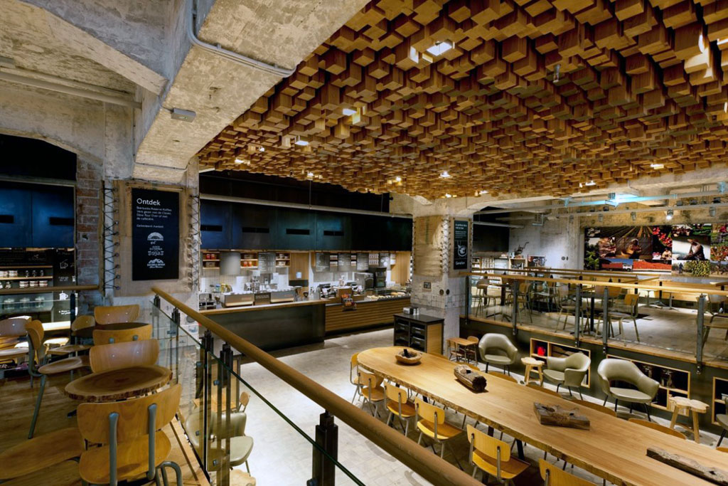 starbucks amsterdam the bank concept store