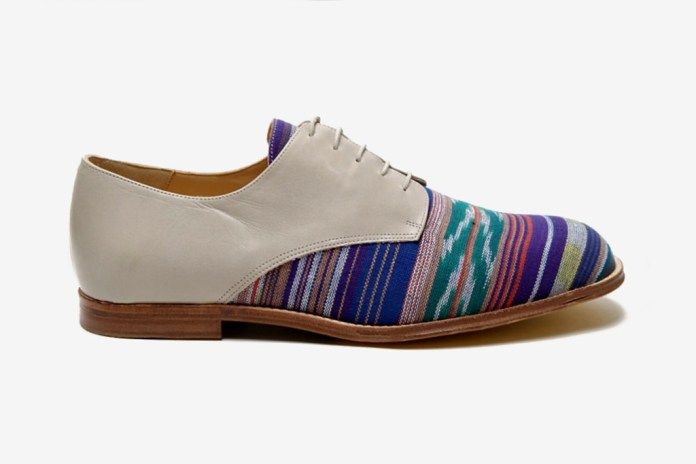 T&F Slack Shoemakers London oki-ni Exclusive Ikat Denver Derby Shoe