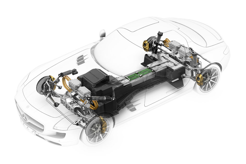 the inner workings of the mercedes benz sls amg e cell