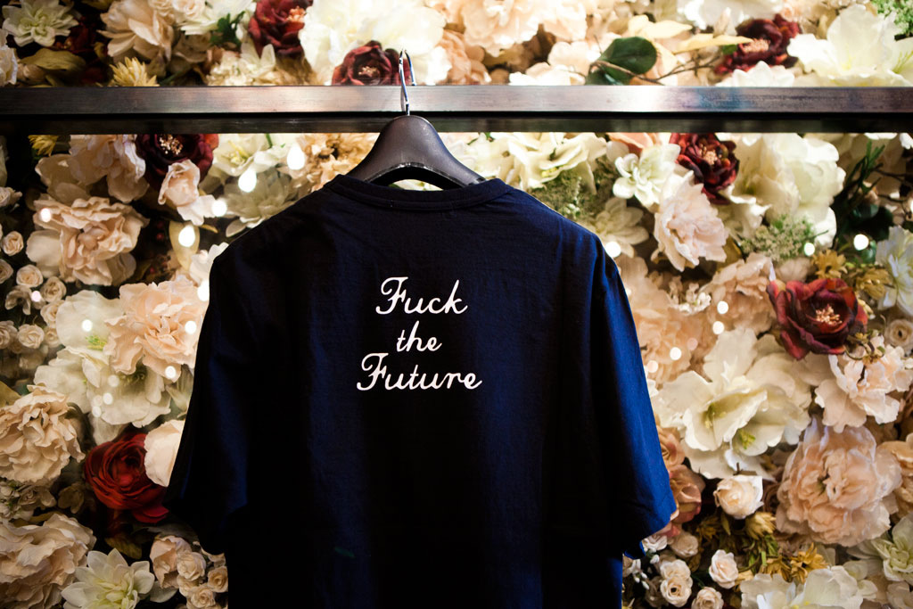 undercover fuck the past fuck the future t shirt