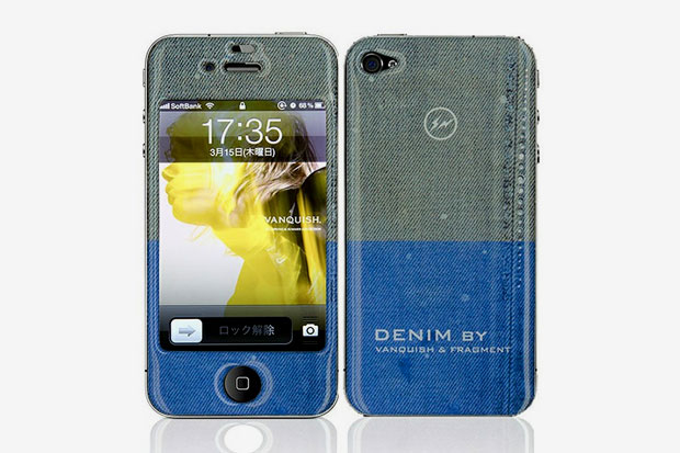 denim by vanquish x fragment design x gizmobies iphone 4 4s skin