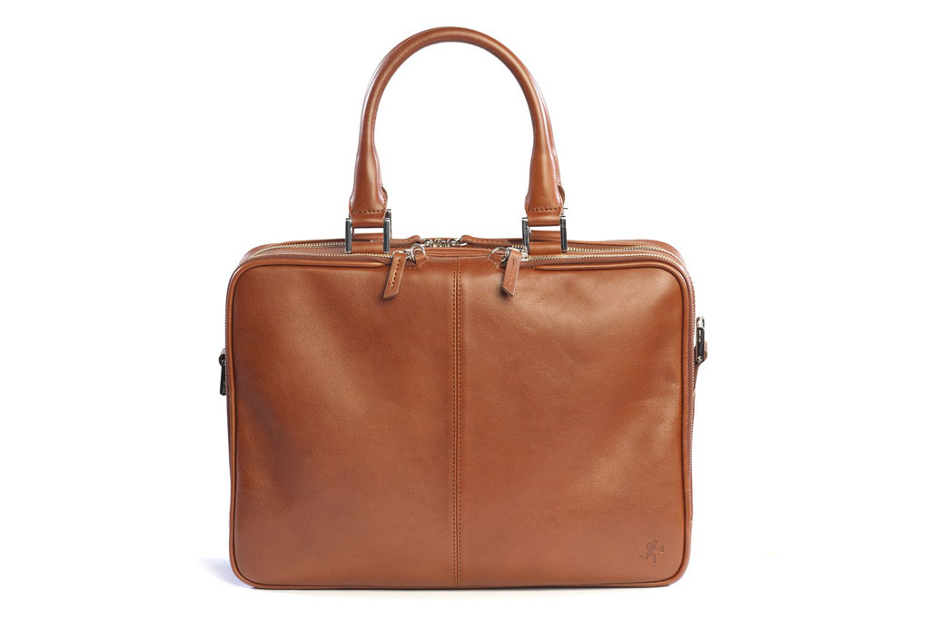 want les essentiels de la vie trudeau 14 leather bag