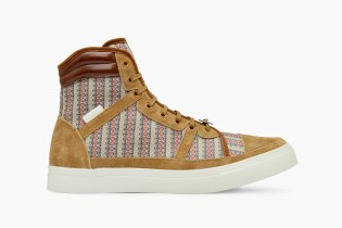 White Mountaineering Flower Hightop Sneaker
