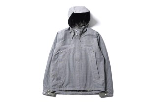 White Mountaineering Paclite Typewriter Check Big Pocket Short Parka