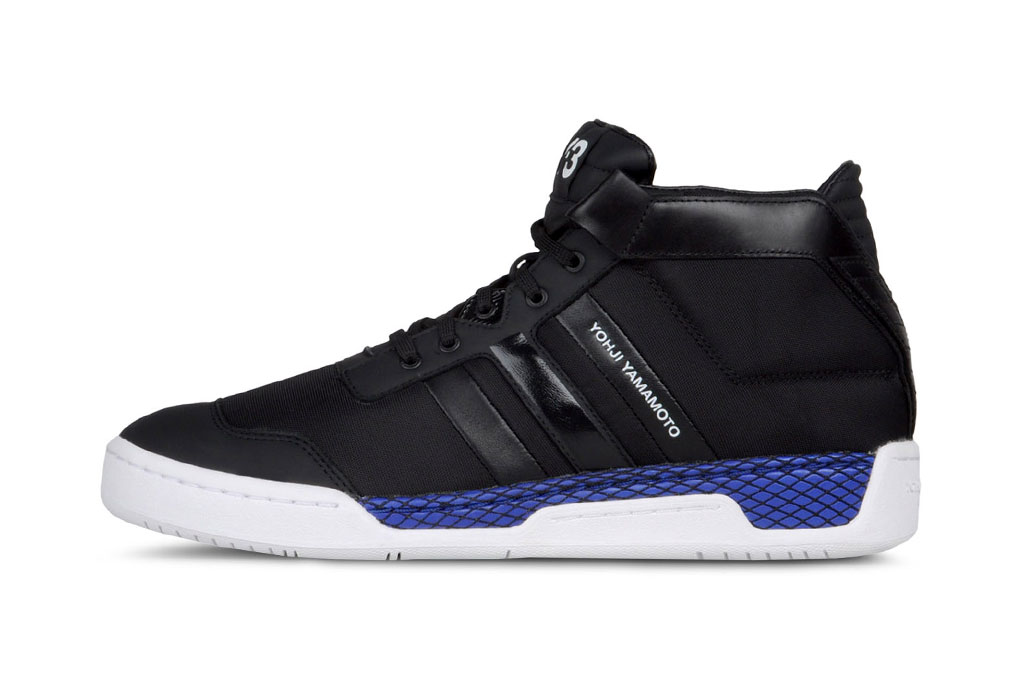 y 3 courtside black royal blue