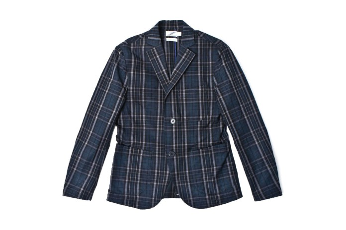 02DERIV. 2012 Spring/Summer STUDENT JACKET-COTTON DARK CHECK