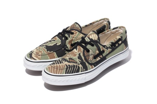 A Bathing Ape TIGER LEAF CAMO DECK STA