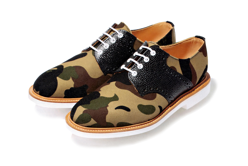 A Bathing Ape x Mark McNairy 1st Camo Canvas Saddle Shoes