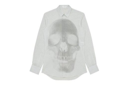 Alexander McQueen 2012 Spring/Summer Skull Dots Shirt