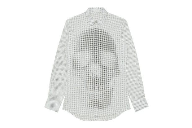 alexander mcqueen 2012 spring summer skul dots shirt