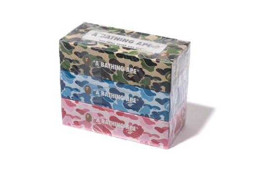 BAPE ABC CAMO 3 PACK TISSUE BOX