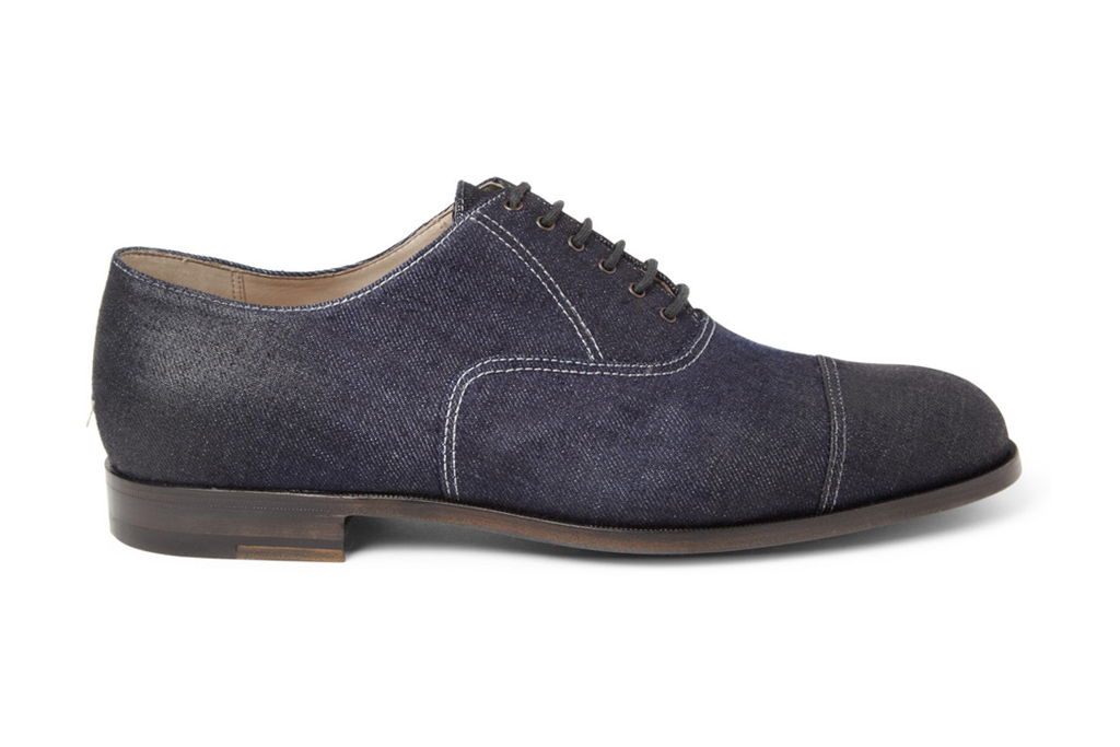 Bottega Veneta Oiled Denim Oxford Shoe