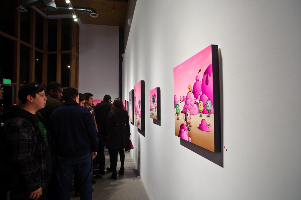 "Buff Monster ""Legend of the Pink Cherry"" Exhibition @ Corey Helford Gallery Recap"