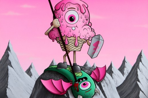 """Buff Monster """"Legend of the Pink Cherry"""" Exhibition @ Corey Helford Gallery"""