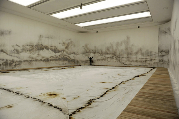Cai Guo-Qiang - Hangzhou's West Lake Made From Gunpowder