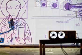 Cai Guo Qiang Sets Up Aliens and Explosives at the MOCA