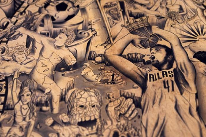 Chaos Crew Tattoo Studio Tattooed Calfskin Poster Video