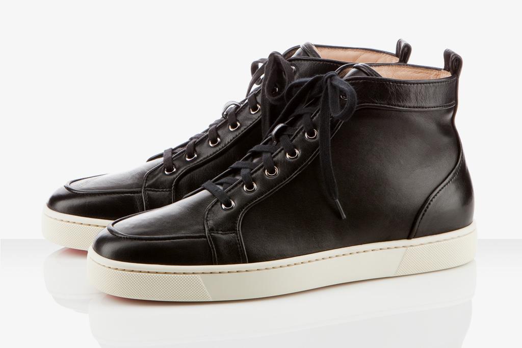 Christian Louboutin Black Leather Rantus Orlato Flat