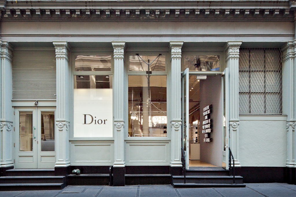 dior homme soho new york pop up store