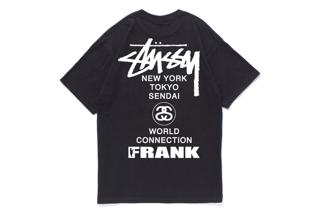 frank151 x stussy sendai chapter t shirt