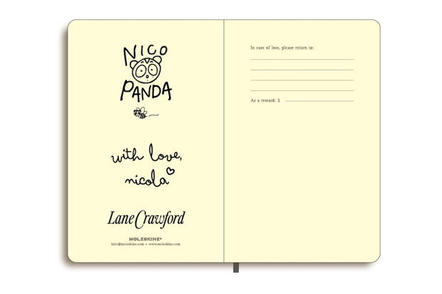 lane crawford x nicola formichetti nicopanda moleskin notebook