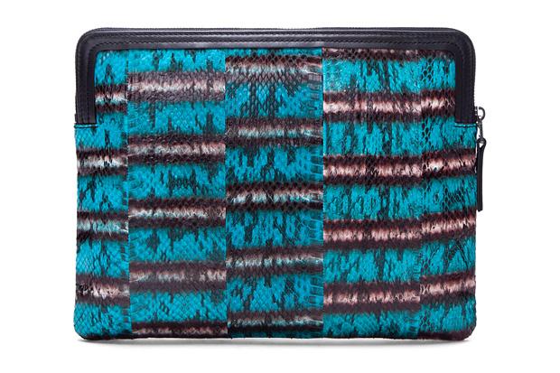 Lanvin Turquoise Snakeskin Wallet