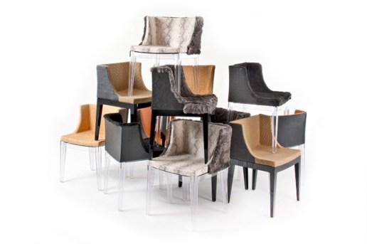Mademoiselle Chairs for Kartell by Philippe Starck + Lenny Kravitz