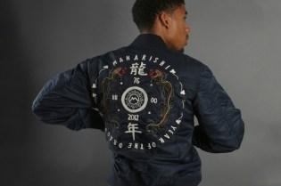maharishi Water Dragon Tour Fitted MA-1 Jacket